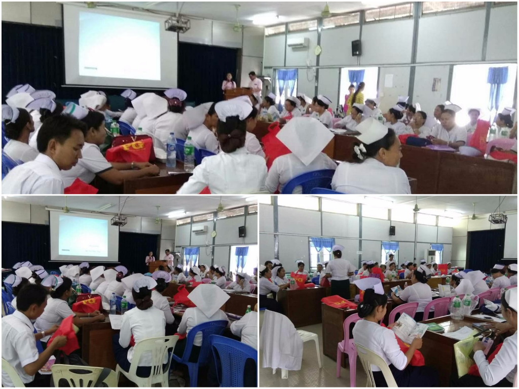 H1N1 Flu Outbreak Training To Nurses In Mandalay Division